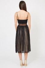 TFNC Elza Black Midi Dress