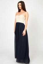 Lace & Beads Karina Navy Maxi Dress