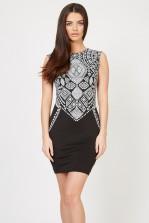 TFNC Bea Aztec Black Bodycon Dress