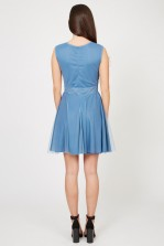 Lace & Beads Sisa Blue Embellished Dress