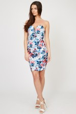 TFNC Halo Geri Blue Floral Mini Dress