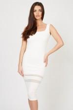 TFNC Twiny White Midi Dress