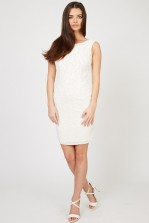 TFNC Maine Cream Embellished Dress