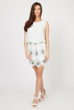 Lace & Beads Sharon Angela Mint Embellished Dress