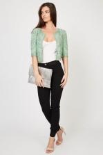 Lace & Beads Teardrop Green Jacket