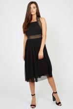 TFNC Sabila Black Midi Dress