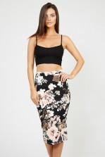 TFNC Rika Floral Midi Skirt