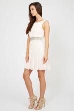 TFNC Audrey Nude Dress