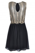 TFNC Irina Sequin Fit and Flare Dress
