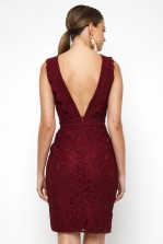 TFNC Vania Burgundy Mini Dress