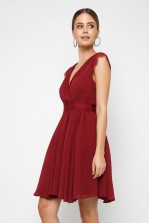 TFNC Perry Burgundy Midi Dress