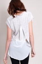 TFNC Boo Hi-Lo Sheer Back Shirt