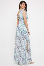 TFNC Phaenna Green Print Maxi Dress