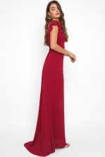TFNC Adriana Mulberry Maxi Dress