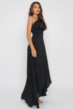 TFNC Delali One Shoulder Black Maxi Dress