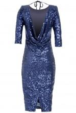 TFNC Paris Draped Back Dress