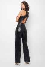 TNFC Nalia Black Sequin Jumpsuit