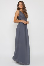 TFNC Hoshi Vintage Grey Maxi Dress