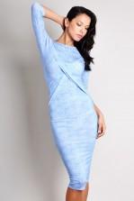 TFNC Lina Body Con Denim Look Dress