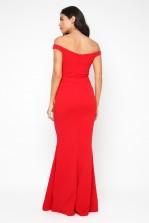 WalG Off Shoulder Red Maxi Dress