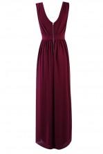 TFNC Debby Burgundy Maxi Dress