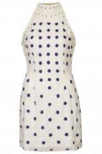 TFNC Priscilla Embellished Halter Dress