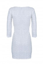 TFNC Paris White Sequin Dress