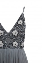 Lace & Beads Avon Grey Maxi Dress