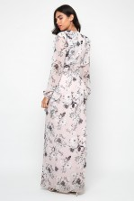 TFNC Shanice Pink Floral Maxi Dress