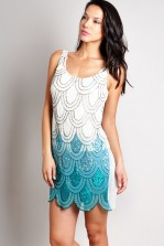 TFNC Angelina Ombre Sequin Dress
