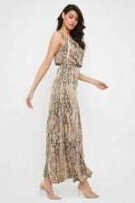 TFNC Allegra Animal Print Maxi Dress