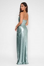 TFNC Turia Green Sequin Maxi Dress