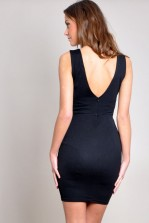 TFNC Dalila Monochrome Ruffle Dress