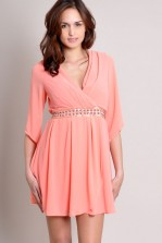 TFNC Denyse Wrap Dress