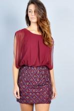 TFNC Jenny Star Sequin Skirt Dress