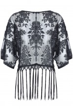 TFNC Guilia Fringed Lace Kimono