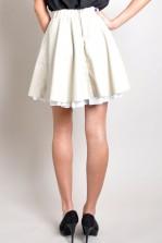TFNC Mouna Leather Look Skirt