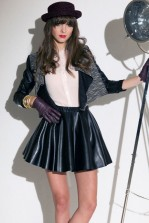 TFNC Natasha PVC Sleeve Jacket