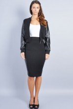 TFNC Bloom Skirt with PVC Panelling