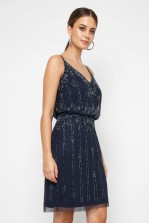 Lace & Beads Keeva Navy Mini Dress