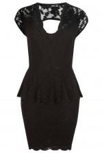 TFNC Kristy Lace Peplum Dress