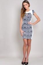 TFNC Zazou Zebra Body Con Dress