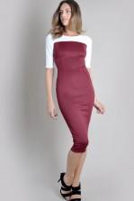 TFNC Telle Body Con Contrast Dress
