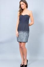 TFNC Bone Embellished Bandeau Dress