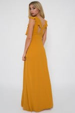 TFNC Isabeen Mustard Maxi Dress