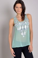 TFNC Diamond Embellished Top