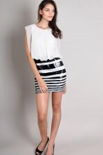 TFNC Irida Contrast Sequin Dress