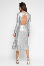 TFNC Venus Silver Midi Dress