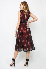 TFNC Nicolia Burgundy Midi Dress