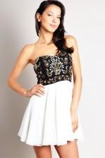 TFNC Amelia Bandeau Embellished Dress